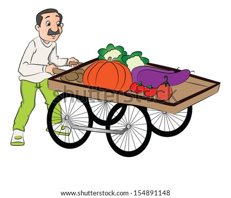 Vegetable Vendors Stock Images, Royalty-Free Images ... (450 x 386 Pixel)