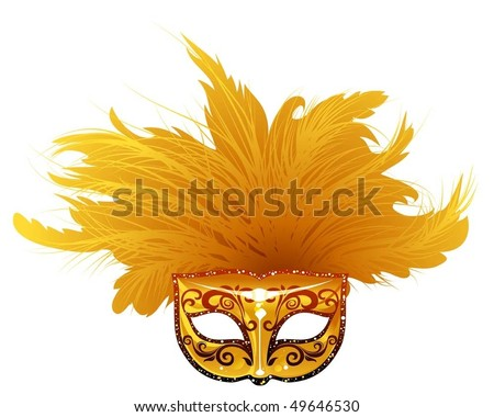 Vector illustration of venetian mask. Can be scale to any size. - stock vector