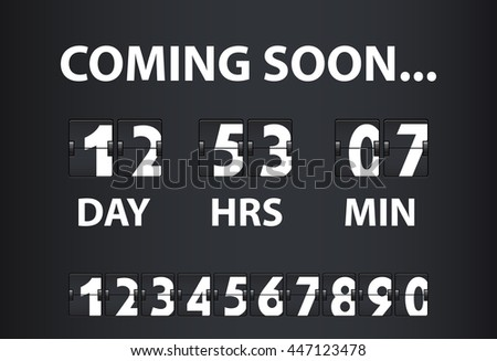 vector illustration of vintage countdown timer with changeover big symbols