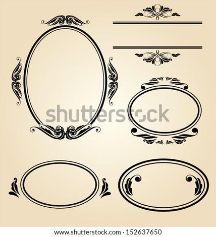 Vector Illustration  of  vintage frame - stock vector