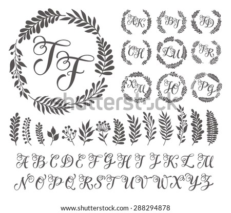 Wedding monogram stock images royalty free images for Free monogram template