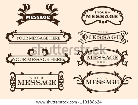 Vector Illustration of vintage styled labels and designs with your own copy. - stock vector