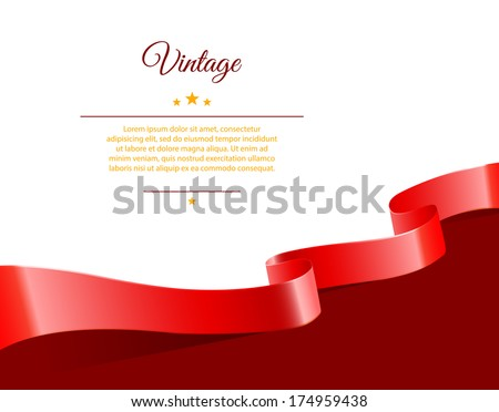 Vector illustration of Vintage template - stock vector
