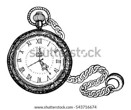 Vector Abstract Illustration Pocket Watch On Stock Vector ...