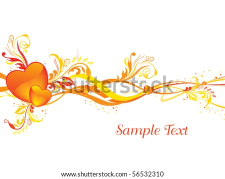 vector illustration of wallpaper for valentine day