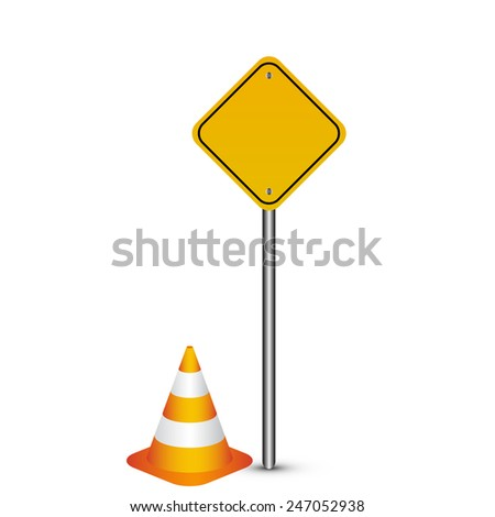 Vector illustration of warning sign - stock vector