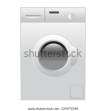 Vector illustration of washing machine