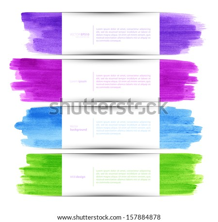 Vector illustration of Watercolor set - stock vector