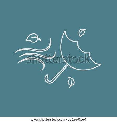 Vector illustration of weather icon - stock vector