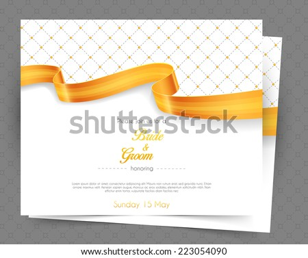 Vector illustration of Wedding invitation - stock vector