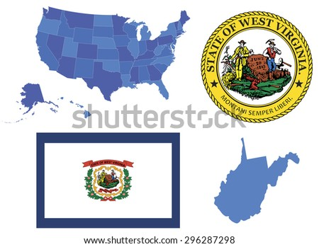 Virginia Map Stock Images RoyaltyFree Images Vectors - Virginia in usa map