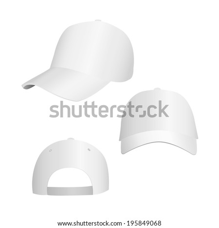 vector illustration of white caps in the three types of - stock vector