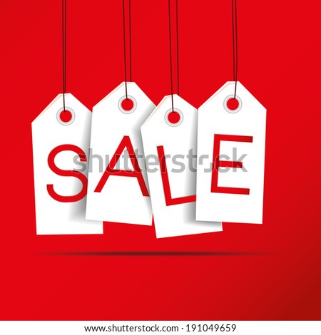 vector illustration white discount coupons on stock vector 191049659