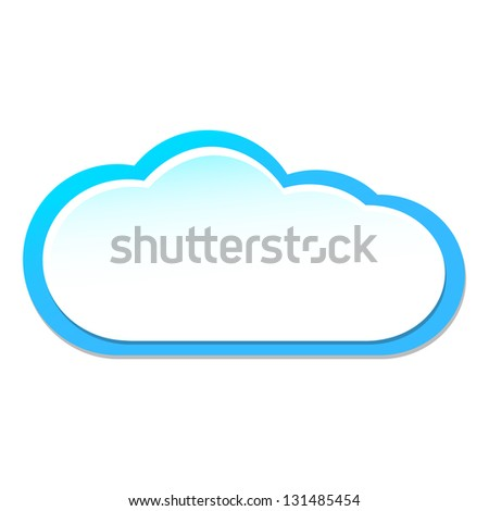 Vector illustration of white paper cloud