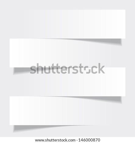 Vector illustration of white paper infographics template design. Eps10 - stock vector