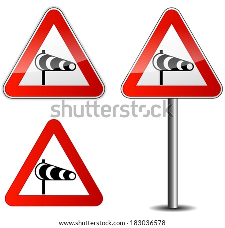 Vector illustration of wind signpost on white background