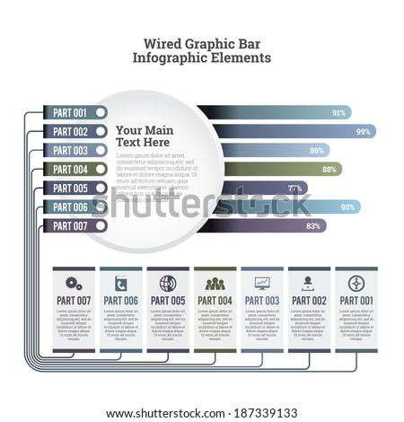 wiring diagram stock images royalty images vectors vector illustration of wired graphic bar infographic elements