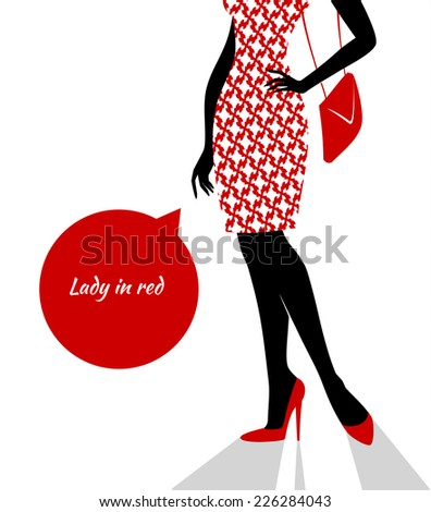 Vector illustration of Woman's silhouette image