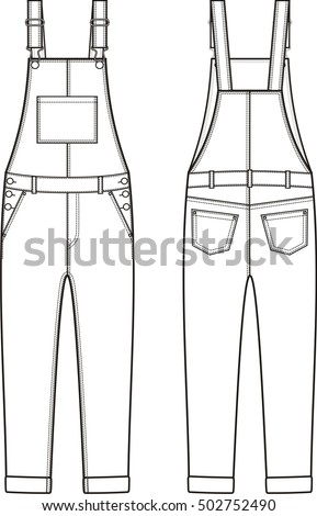 Sewing pattern women's overalls
