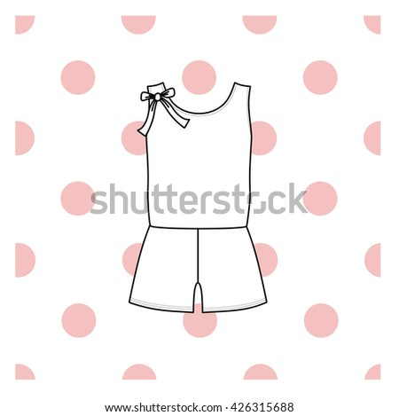 Vector illustration of women's sleepwear.