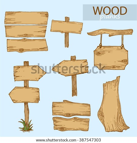 Vector illustration of wood planks