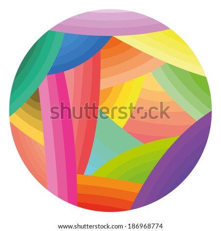 Vector illustration of wool ball. clew, wool yarn. Vector illustration - stock vector