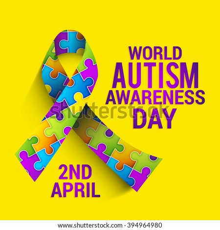 Vector illustration of World autism awareness day. - stock vector