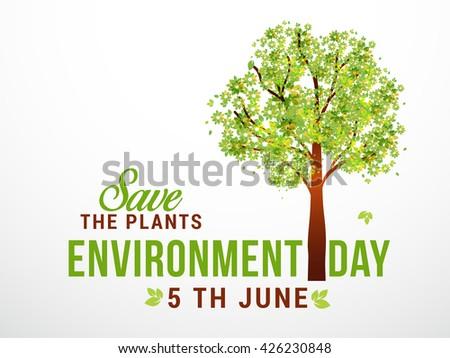 Vector  illustration of  World Environment Day. - stock vector