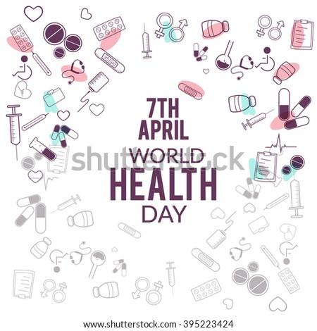 Vector Illustration of World health day. - stock vector