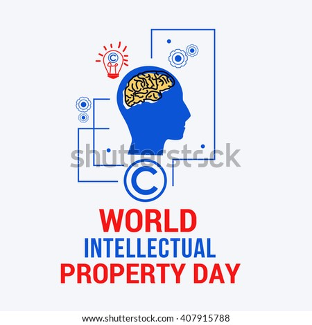 Vector illustration of World Intellectual Property Day. - stock vector