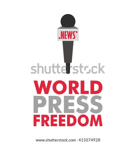 Vector illustration of world press freedom day event