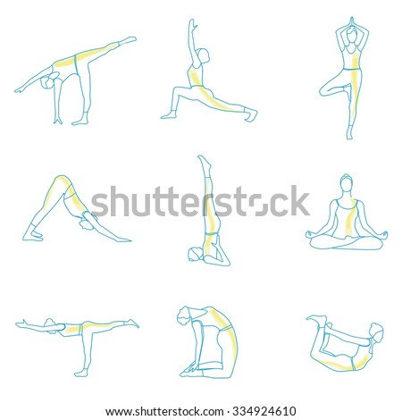 yoga outline A yoga routine outline for you to practice at home.