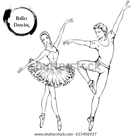 boys and girls dancing coloring pages | Ballet Silhouette Stock Images, Royalty-Free Images ...