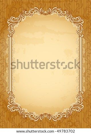 Vector illustration - old-fashioned abstract background - stock vector