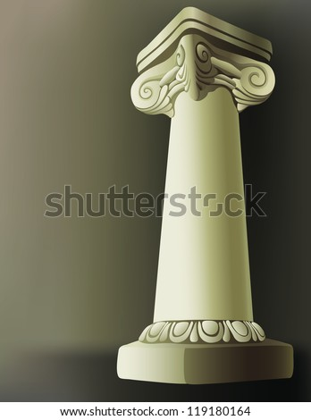 Vector illustration on a Roman Column with a gradient mesh shaded background./Roman Column - stock vector