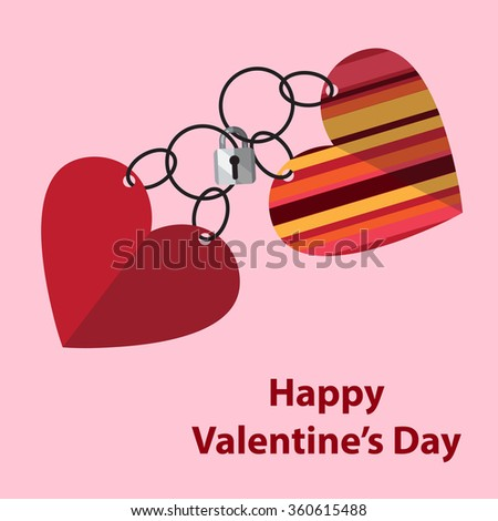 Vector illustration on a Valentine's Day theme. - stock vector