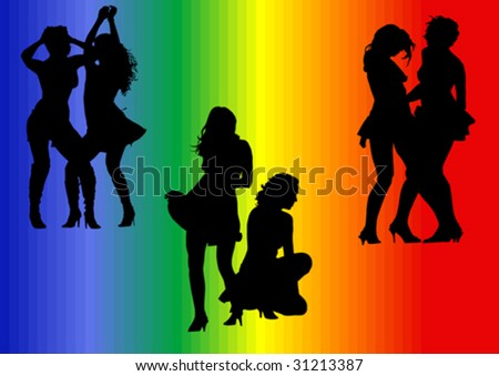 Vector illustration on the theme of homosexuality