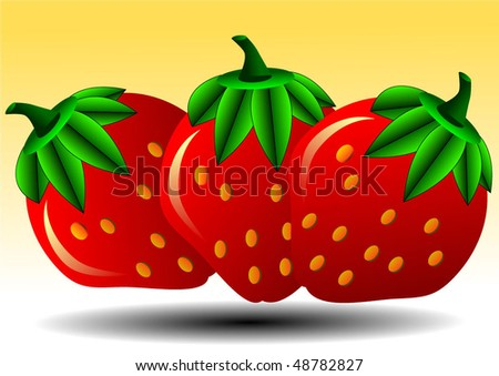 Vector illustration or background of strawberry