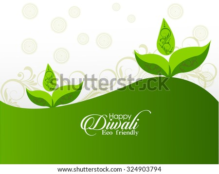 vector illustration or greeting card design for Diwali festival with beautiful Diwali elements.