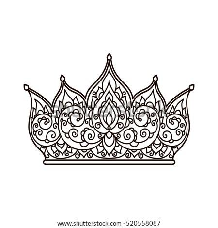 Natalia lyubova 39 s portfolio on shutterstock for Flower crown coloring page
