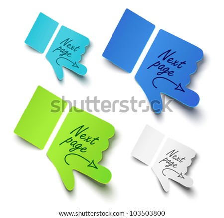 Vector illustration paper hands. Message label - stock vector