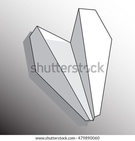 Vector illustration paper plane