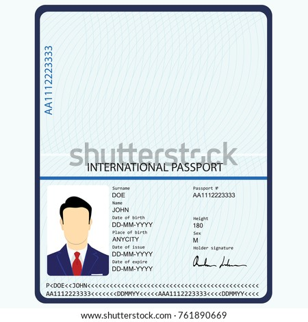 passport photo page template by - Garry.biosalud.co