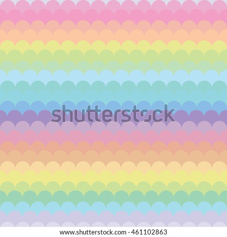 Vector Illustration Pastel Rainbow Horizontal Stripes And Waves Background Or Wallpaper