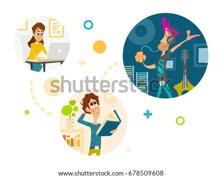 vector illustration people in social network concept