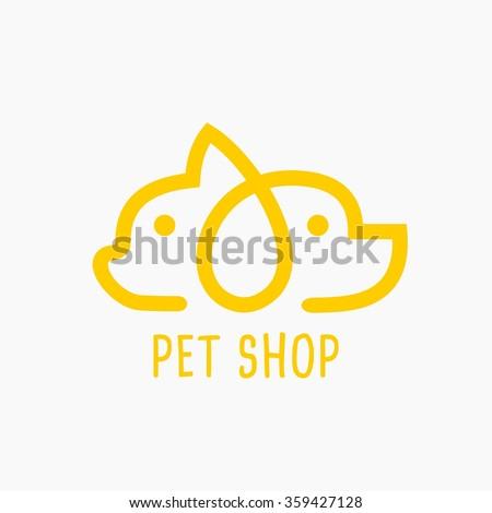 Vector Illustration Pet Shop Icon. - stock vector
