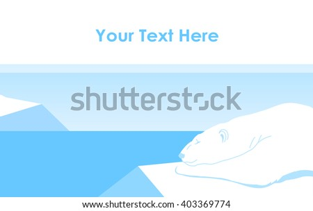 Vector illustration: Polar bear lying on an ice floe - stock vector