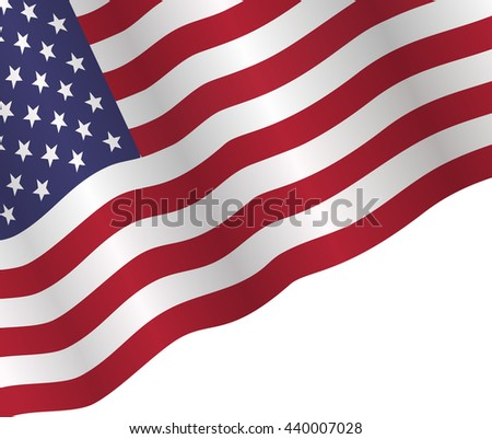 vector illustration poster to American Independence Day with american flag on white background