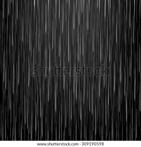 Vector illustration rain. Downpour, rainfall. Dark background. EPS 10 - stock vector