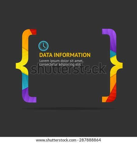 Vector Illustration rainbow quote background isolated on a black background.  - stock vector
